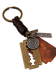 Key Chain / Punk Fashion Key Chain Bronzed Metal / PU Leather