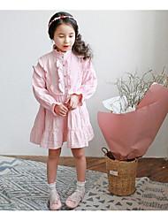 Vestido / Mono Chica de-Noche-Un Color-Algodón-Verano / Primavera-Rosa