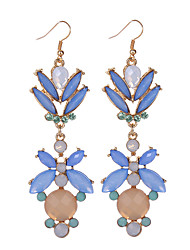 Europen Style Vintage Crystal Dangle Earrings Brincos Pendiente Earrings For Women Gift oorbellen Long Drop Earring