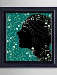 Pessoas Quadros Emoldurados / Conjunto Emoldurado Wall Art,PVC Preto Sem Cartolina de Passepartout com frame Wall Art
