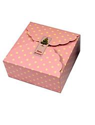 rose à pois boîtes de paquets de gâteaux de lune alimentaire spécifications 13.5 * 13.5 * 6cm 10 conditionnés pour la vente