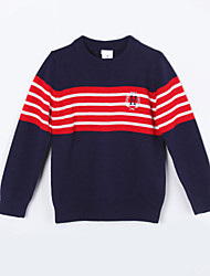 Pull & Cardigan Fille de Rayé Décontracté / Quotidien Coton Automne Bleu