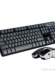 Bluetooth Wireless Mechanical Keyboard Feeling Colorful Keyboard and Mouse  Tablet PC Suspension Keyboard for Laptop