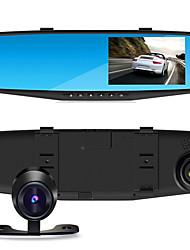 4.3 Inch Double Camera Mirror Driving Recorder 1080P Wide Angle Double Record