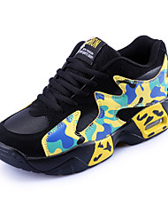 Unisex Sneakers Fall / Winter Mary Jane PU / Fabric Athletic Flat Heel Applique / Lace-up Yellow / Orange Sneaker