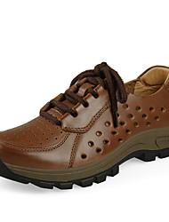 Herren-Sneaker-Outddor-Leder-Plateau-Komfort-Braun / Kaffee