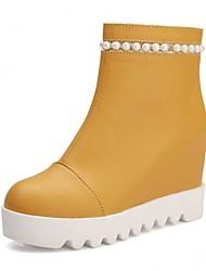Feminino-Saltos-Plataforma Coturno Inovador Botas de Cowboy Botas de Neve Botas Cano Curto Botas Montaria Botas da Moda Botas de