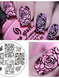 1 pcs Rose Flower Nail Art Stamp Template Image Plate