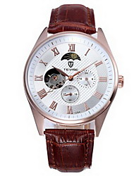 Tevise 0264 Automatic Mechanical Watch Phases of the Moon - BROWN 11