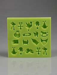 Soft hight quality baby Collection Fondant cake silicone mold