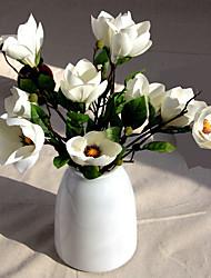 1 1 Ramo Poliéster Orquideas Flor de Mesa Flores artificiais 42CM