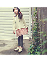 Mädchen Rock / Anzug & Overall-Ausgehen einfarbig Baumwolle Winter / Herbst Beige