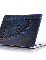 "Case for Macbook 13"" Macbook Air 11""/13"" Macbook Pro 13""/15"" MacBook Pro 13""/15"" with Retina display Cartoon Plastic Material Dark Blue Jeans Pattern"