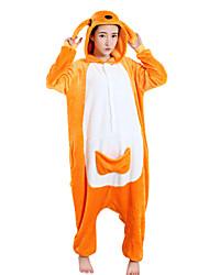 Kigurumi Pijamas Canguru Collant/Pijama Macacão Festival/Celebração Pijamas Animal Laranja Lã Polar Kigurumi Para UnisexoDia Das Bruxas /