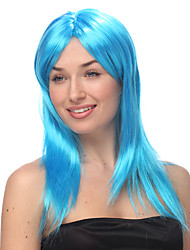 Sky Blue Long Straight Halloween Wigs Synthetic Wigs Costume Wigs