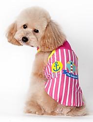 Gatos Cães Colete Roupas para Cães Verão Marinheiro Casual Esportivo Azul Rosa claro