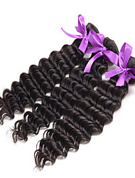 Deep Wave Brazilian Hair 3Pcs Curly Brazilian Virgin Hair Extensions Brazilian Curly Virgin Hair  Deep Wave Human Hair