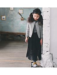Mädchen Rock-Urlaub einfarbig Baumwolle / Polyester Winter / Frühling / Herbst Schwarz