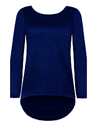Women's Going out Simple Street chic All Seasons T-shirt Solid Round Neck Long Sleeve