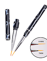 1pcs Marbleizing Handle High Quality Nail Art Painting Tool Line Brush Manicure Tools 7mm/11mm