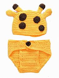 Fashion Baby Acrylic Casual/Daily Fawn Style Hoodie Sleepwear Patchwork All Seasons