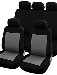 Universal Car Seat Covers Set Black/Grey Washable & Airbag Compatible Polyester Material Car Covers Car Accessories