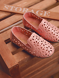Girl's Flats Spring / Fall Flats Leather Outdoor Flat Heel Others Pink / White Others