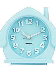 bonbons dessin animé couleur protection de l'environnement alarme matériau horloge nuit lumineuse petite horloge d'alarme
