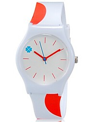 Kids' Wrist watch Quartz Colorful Plastic Band Candy color Cool Casual Orange
