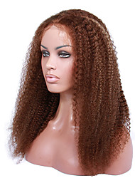 cabelo humano encaracolado 14-18 polegadas Kinky perucas perucas frente brasileiros excêntricas encaracolados glueless rendas para as