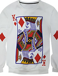 New Fashion Men Poker King Printed Pullover Long Sleeve 3d Sweatshirt