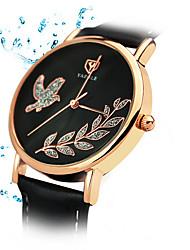 360 YAZOLE Fashion Women's Business Dress Watch Leather Strap Blue Ray Glass Analog Quartz Wrist Watches