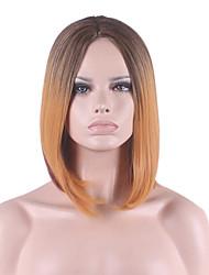 новые соз парик черный градиент тунговое указывает бобо короткий парик 12 дюймов в коричневый цвет