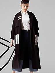 room404 женские выходя уличный шик coatcolor блок-Нотч длинным рукавом