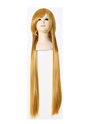 le domaine de dieu épée de la soie na jonction ville demain nai perruque 100 cm longue ligne droite orange cheveux
