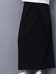 Damen Röcke - Einfach Maxi Polyester / Elasthan Unelastisch