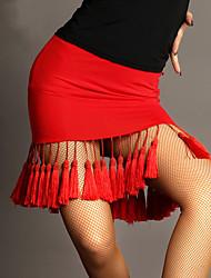 Latintanz-Balletröckchen und Röcke(Schwarz / Rot,Viskose,Latintanz) - fürDamen Rock Ärmellos Normal