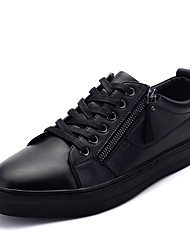 Men's Flats Spring / Summer /Winter Flats Leather Office & Career / Party & Evening / Casual Flat Heel Magic Tape