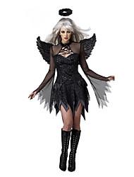 Costumes de Cosplay Costume de Soirée Ange et Diable Fête / Célébration Déguisement d'Halloween Noir Mosaïque Robe Plus d'accessoires
