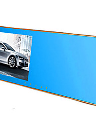 espelho retrovisor drive gravador HD 1080p única lente de estacionamento monitoramento de visão noturna espelho azul 4,3 polegadas