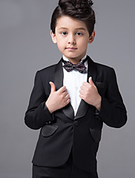 Baby Boy Kid Black Bow Tie Gentleman Suit Infant Long sleeve Clothing Formal Suit