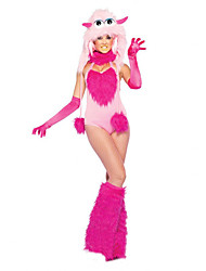 Cosplay Costumes Angel/Devil / Monster Movie Cosplay Pink Solid Leotard/Onesie / Gloves / Leg Warmers / HatHalloween / Christmas / New