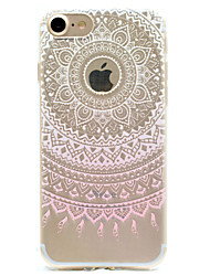 Pink Print Pattern TPU High Purity Translucent Openwork Soft Phone Case for iPhone 7 7Plus 6S 6Plus SE 5S 5