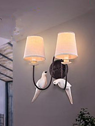 Wall Lamp Retro Creative American Bedside Lamp To Warm The Bedroom Wall Double Bird