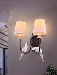 lampada da parete retrò creativa lampada da comodino americano per riscaldare il doppio uccello parete camera da letto