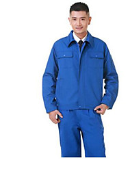 Polyester Brilliant Blue Jackets Single Labor Protective Clothing Size  XL