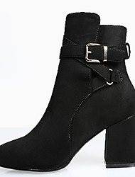 Women's Boots Fall / Winter Heels / Fashion Boots / Combat Boots Fabric Outdoor / Office & Career / Buckle / Zipper