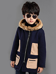 Boy's Casual/Daily Patchwork Down & Cotton Padded / Suit & BlazerWool / Rayon Winter Blue