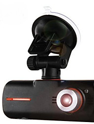 Double Lens Driving Recorder GPS Car Black Box Gravity Induction CARDVR Lamp LED