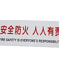 pvc plástico sinalização de segurança extintor de incêndio de aviso sinais de trânsito placa de identificação de um pacote de cinco para